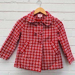 LEONA EDMISTON Little Leona Red Cotton Winter Coat